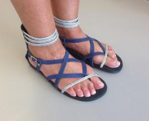 sandalen model Pearl blauw zlver